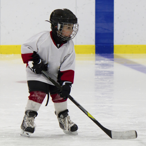 Young Beginner Hockey Player